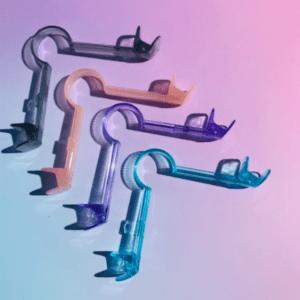 BLA fit device in 4 colors: gray, pink, lavender, aqua